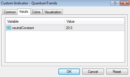 Trends - inputs tab